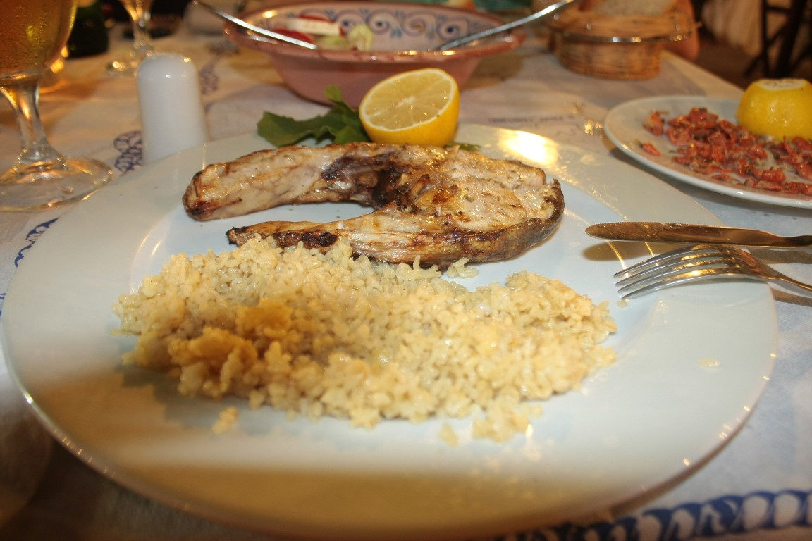 Somon Izgara ve Bulgur Pilavı